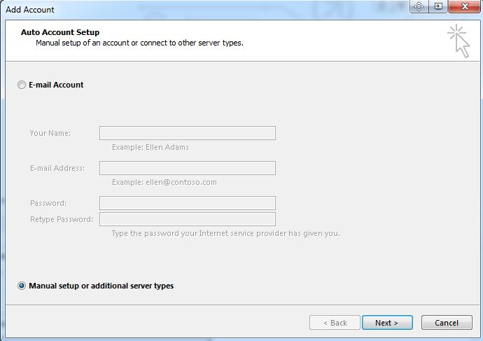 Creating a email address in outlook