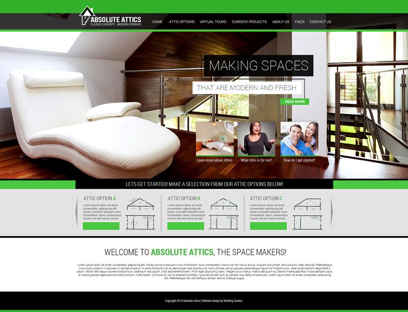 Absolute Attics View Project  sc 1 th 196 & Webfrog Website Design u0026 Development | Web Design By WebFrog